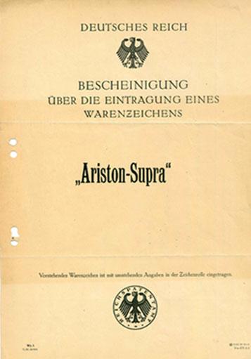 Ariston Formstaub-Werke Essen